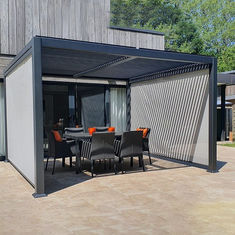 Awning System 202mm Adjustable Aluminum Pergola With Retractable Canopy