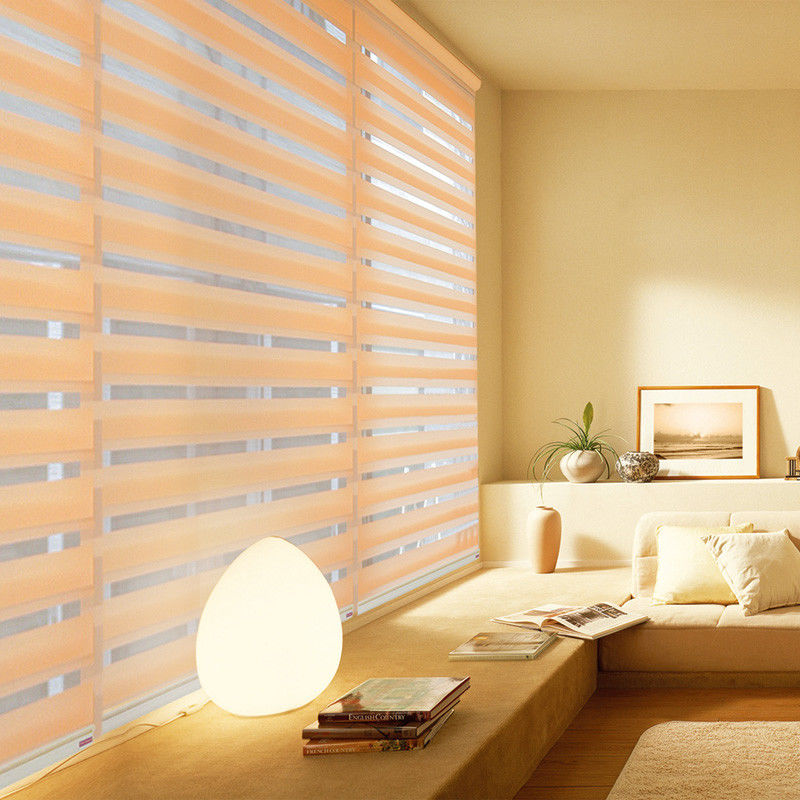 Restroom Windows Waterproof Zebra Sun Shade Roller Blinds